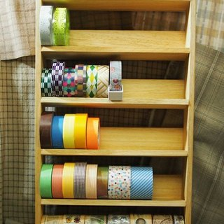 Paper tape rack / shelf paper tape - paper tape fanatics - change bottom plate (Christmas / exchange gifts / natural wood)