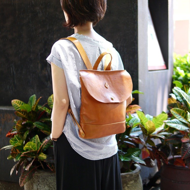 Japanese full cowhide classic retro backpack ordering Made in Japan by Cledran