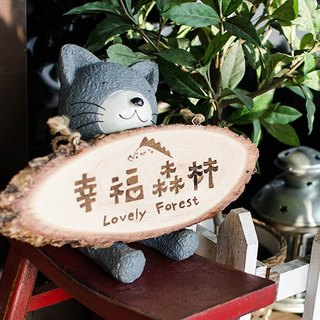 [Open shop small things] small wood signboard customized wood signboard sign shop necessary