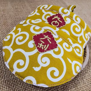 Japan yellow arabesque cloth Bib Dogs and Cats Pet Collar tying paragraph s size