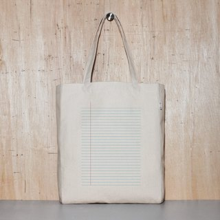 Stationery Control Notebook-holic Original Canvas Tote Bag