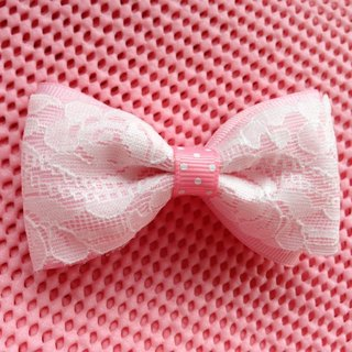 [050604] lace double bow (pink) hairpin / tress / hair bands