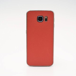 [Spot] Samsung S6 leather back cover protector, red, coffee & black spot