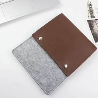 [Can be customized] original handmade light gray blankets Apple computer protective sleeve blankets sets of laptop bags computer bags iPad mini 1/2/3/4 iPad 2017 (can be tailored) - ZMY018LGIPM