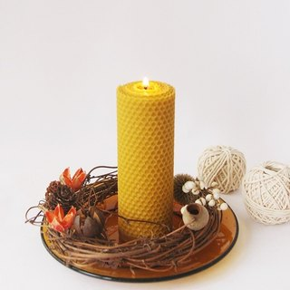 4th Floor Apartment - Handmade Essential Oil Beeswax Candle - Big Round Roll