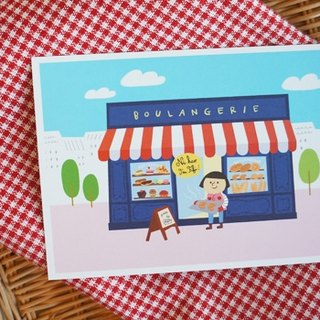 {FiFi Urban Series postcards} ★ bakery in Lyon, France! ★