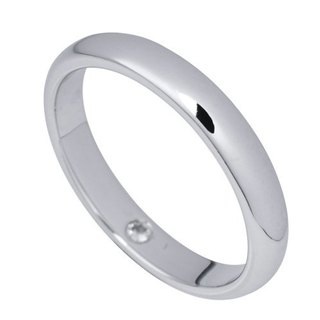 Simple tenderness Silver Ring (4mm)