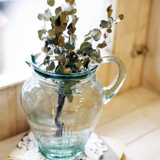 Good day [fetish] Japanese VINTAGE green vase