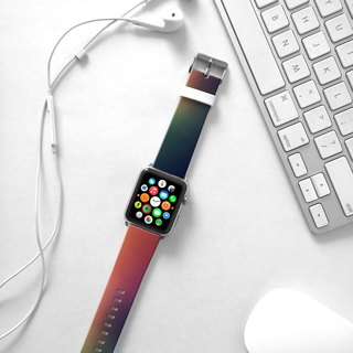 Apple Watch Series 1 , Series 2, Series 3 - Aurora Borealis Abstract Color Watch Strap Band for Apple Watch / Apple Watch Sport - 38 mm / 42 mm avilable