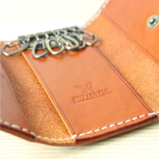 [Butterfly hand made leather goods] key bag (free branding service).