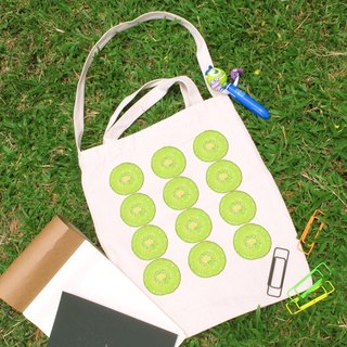 Kiwi Fruit series cultural and creative style straight canvas bag