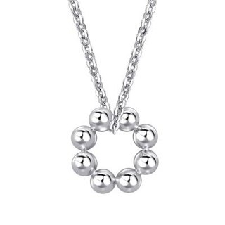 Hong Kong Design Bling Bling Soap Necklace - Platinum Plated Sterling Silver