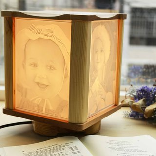 [Customized gift preferred] art rotating light box single layer straight light box wedding lover anniversary must