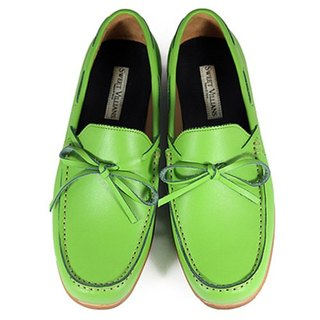 Toadflax M1122 Lemon Green leather loafers