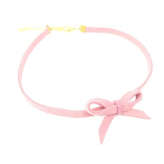 Handmade necklace pink bow