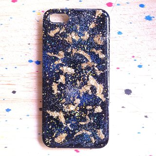 Stardust X retro gold foil series ll hand-painted oil painting wind phone shell