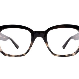 Rectangle Marble Tortoise  Black Color eyeglasses Handmade in Japan eyewear