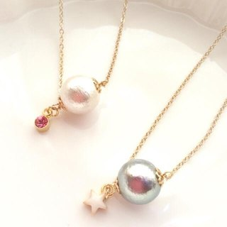 Simple Cotton Pearl Necklace