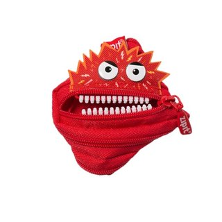(5 fold out of clearance) -Zipit Talking dialogue monster zipper bag - (small) red