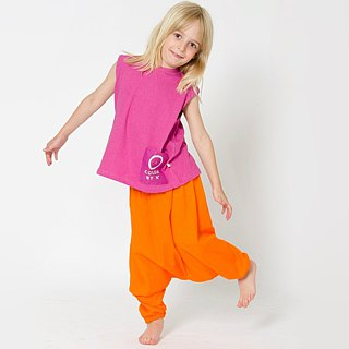 Nordic organic cotton children's pants wide pants orange