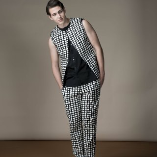 Sevenfold * Op Dot No Waist Pant (Black) Op dots without waistband trousers (black)