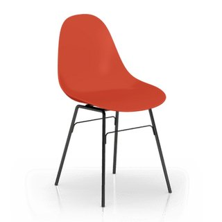 TOOU Side Chair with black Legs (Red)