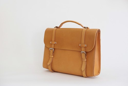 joydivision vintage double with vegetable-tanned leather retro package mailman male Oxford, England (female) bag brown