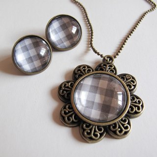 Scotland Grey necklace pattern ear clip ear acupuncture group