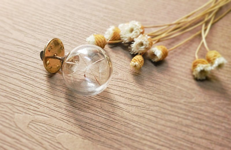 Dandelion brooch [] -XIAO ◆ Favorite Season Series 16mm Glass Hand special Valentine's Day gift