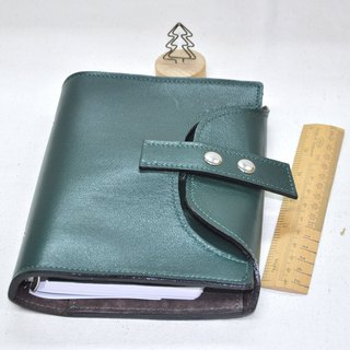Cycle Life Series: Dark green leather 6 hole B6 loose-leaf notebook