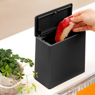 Ideaco Japan Mini Storage skilled kitchen bucket rings good helper TUBELORmini flap [textured black]