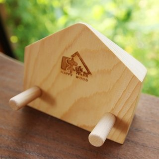 Wooden Business Card & Phone Holder
