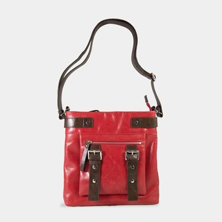 Influxx UN1 Leather Pouch / iPad Bag – Poppy Red