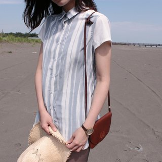 Striped Blouse|Pastel Blue