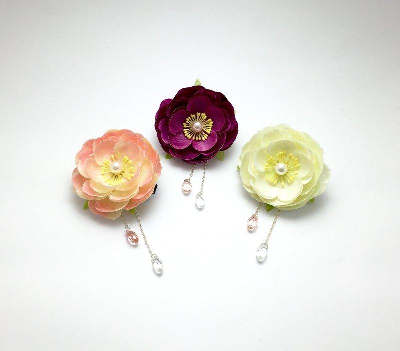 Rose season japanese camellia handmade silk flower hairpin bridal japanese camellia handmade silk flower hairpin bridal tiara kimono hair accessories mightylinksfo
