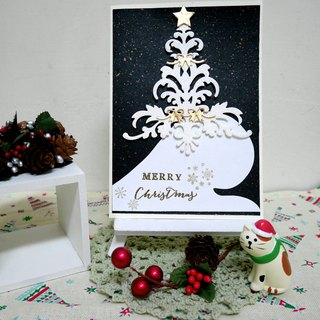 Christmas cards (greeting card) - handmade cards White Christmas