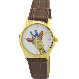 LADIES 'Giraffe Watch (color) gold shell
