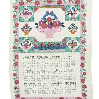 1997 American early years cloth calendar flower