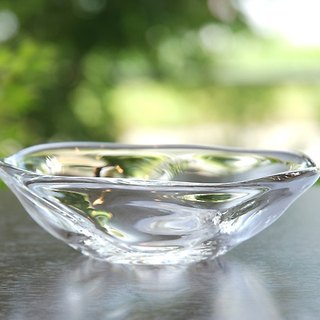 Evening twilight swaying shallow glass bowl (small)