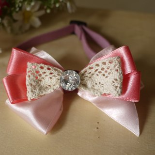 Safety x pet collar thick pink lace sweet cats and dogs / Collar / tie / Jojo ♥ cherry pudding Cherry Pudding ♥