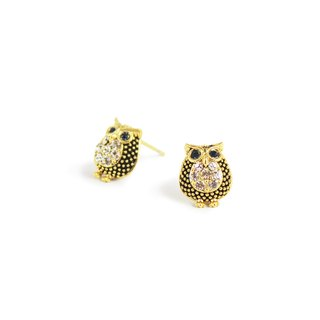 Bibi favorite animal series - the owl Cuckoo earrings