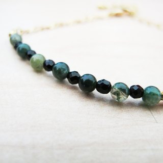 Indian Agate Bracelet (034) - Watermelon is sweet and not sweet