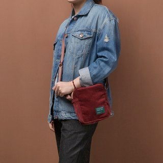 ntmy. Heavy washed corduroy small satchel shoulder oblique backpack backpack