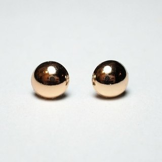 Circle dot Gold Ball Stainless Steel Earrings Earring Ear Clips 011