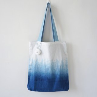 S.A x Spruce Forest, Indigo dyed Handmade Natural Pattern Tote Bag