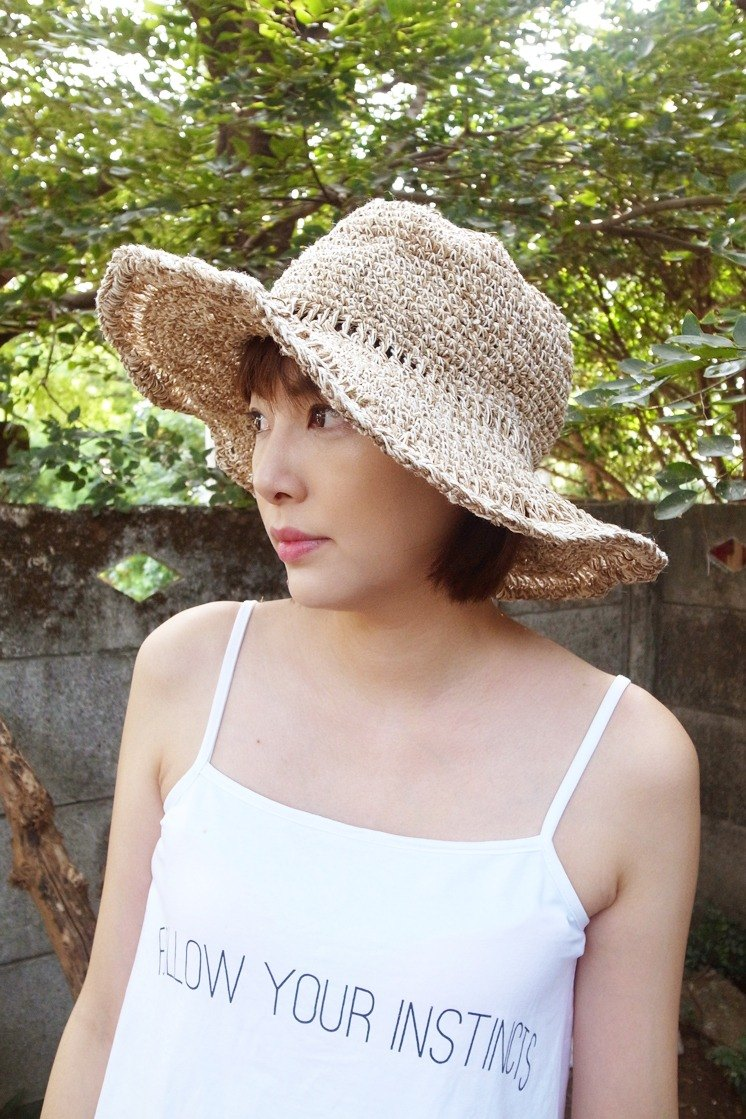 c174e7ab31f Grooving the beats Handmade Hand-woven Hemp and Cotton Hat with ...
