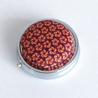 Pillbox with Japanese Traditional pattern, Kimono