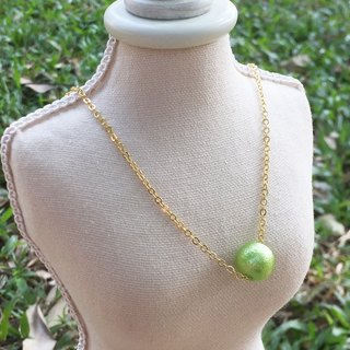 """LaPerle"" imitation cotton Jane Green necklace 16k gold plated brass necklace Handmade Christmas gifts"