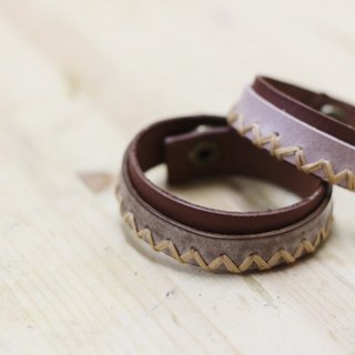 Make Your Choicesss hand-stitched Italian leather strap jewelry lovers bracelet one pair