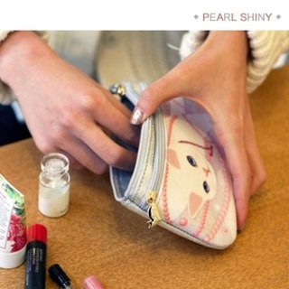 JETOY, Choo Choo sweet cat caramel bag _Pearl shiny J1502506